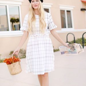 Plaid Midi Dress In S-M-L